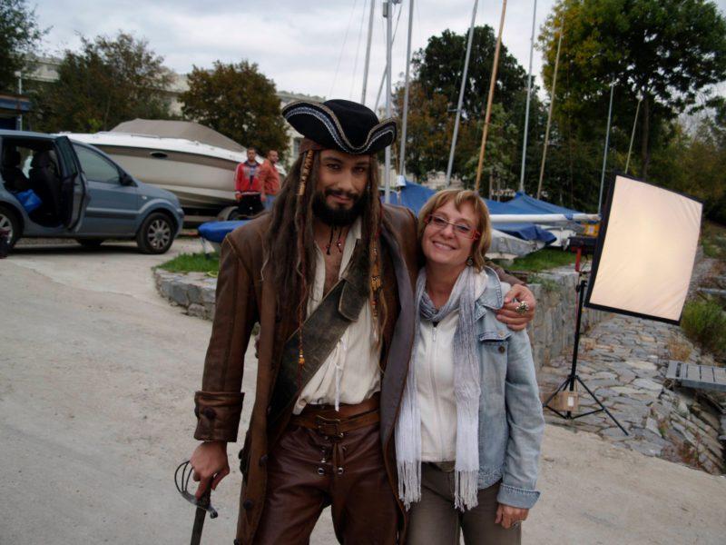 Liška jako kapitán Jack Sparrow
