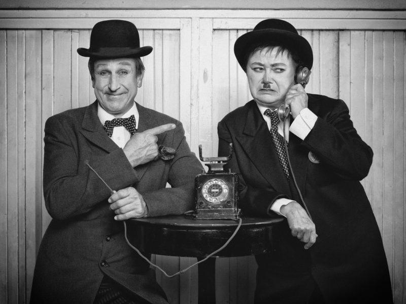 Václav Vydra a Jana Boušková jako Stan Lauer a Oliver Hardy