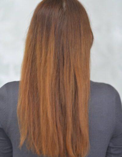 dlouhé vlasy na učes